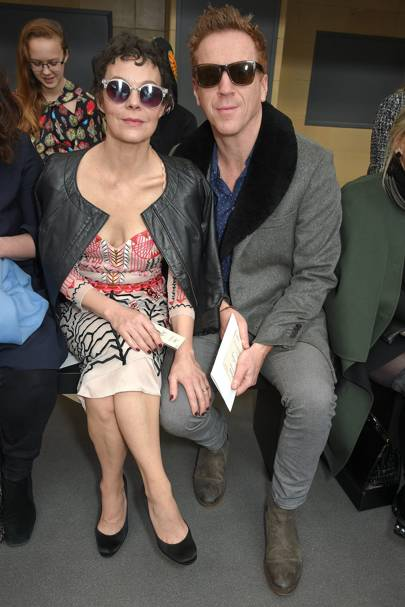 Helen McCrory and Damien Lewis at Temperley London A/W18