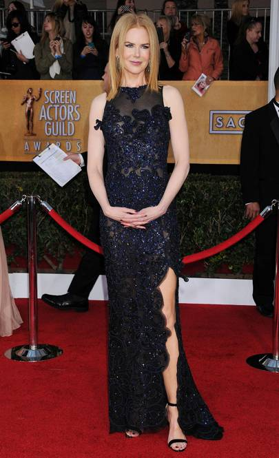 Wearing Vivienne Westwood at the SAG awards, 2013