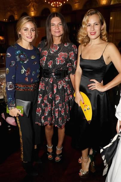 Olivia Palermo, Dame Natalie Massenet and Charlotte Dellal