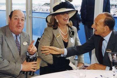 The Hon Nicholas Soames, Princess Ira von Fürstenberg and David Metcalfe